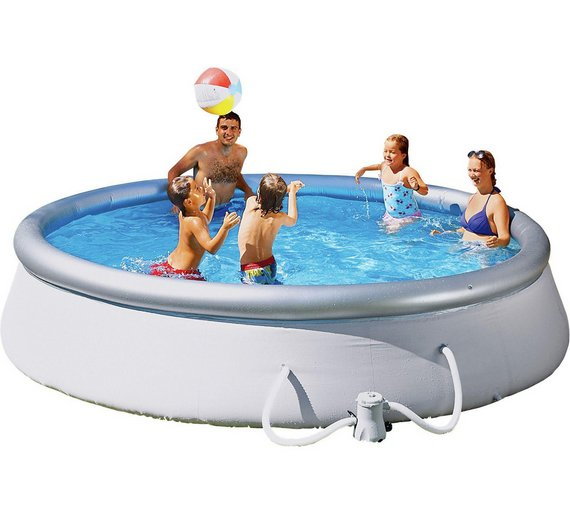 Quick up pool set and cover 10ft 3638 litres size l305 for Quick up pool obi