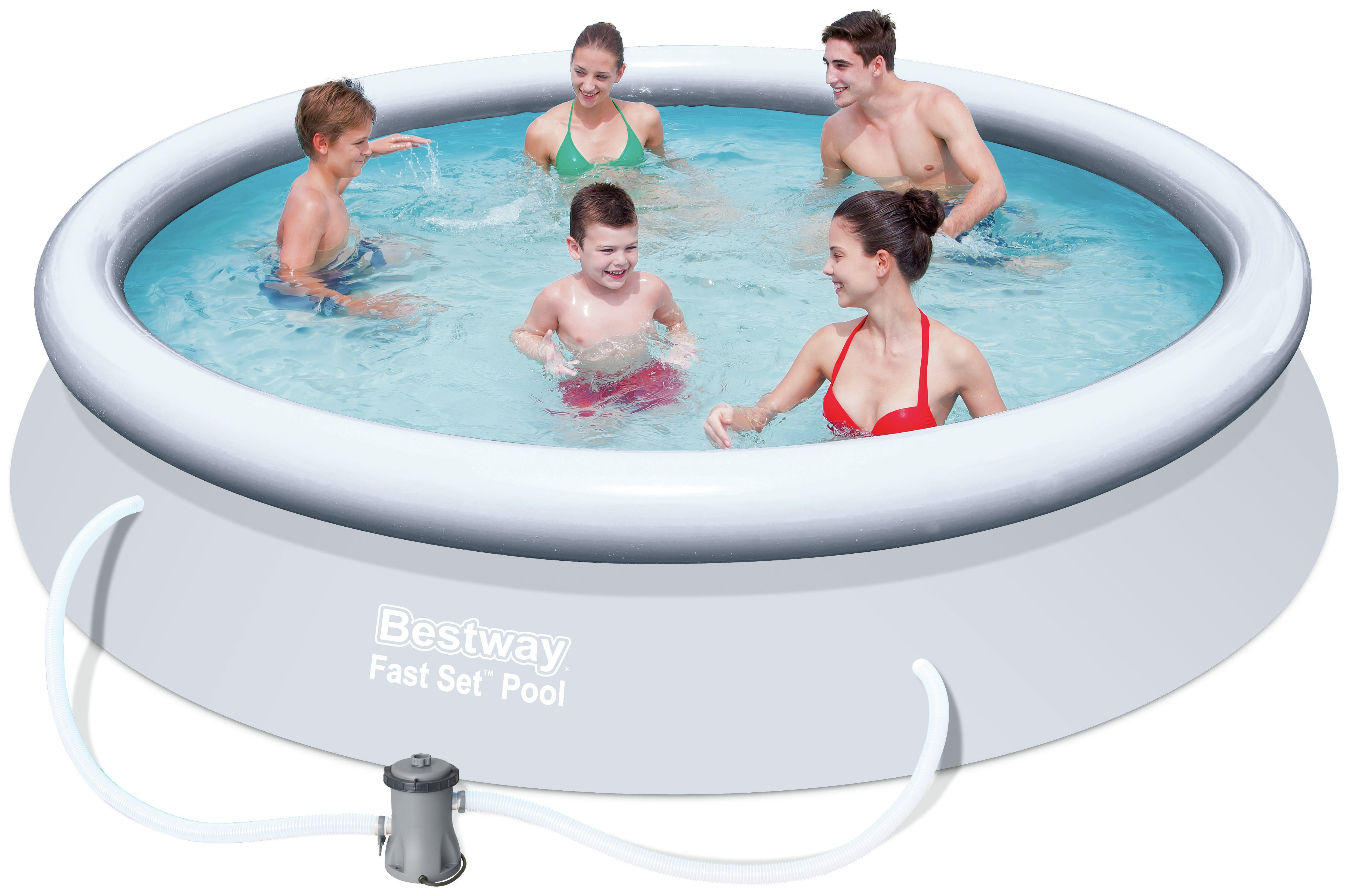 Sale on quick up pool set 12ft white bestway now for Quick up pool obi