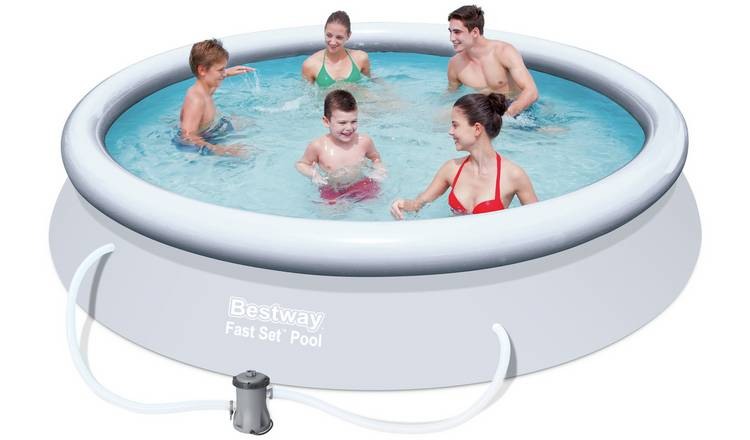 Buy Bestway 12ft Quick Up Round Family Pool 5377l Pools And Paddling Pools Argos