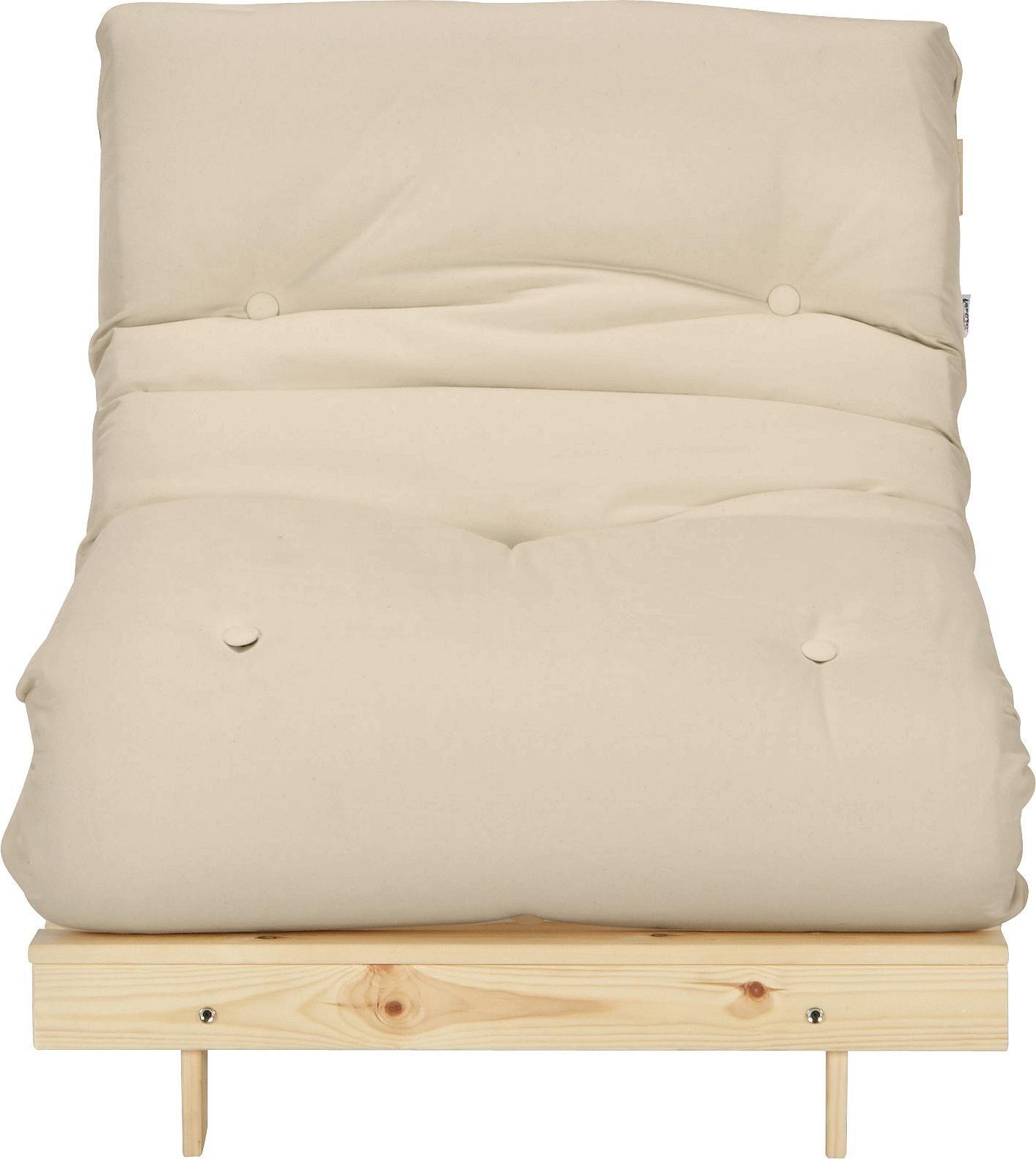 Buy ColourMatch Single Futon Sofa Bed w Mattress Cotton