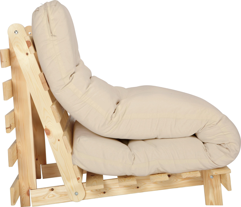 Habitat Single Futon Sofa Bed with Mattress - Natural