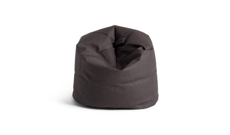 Argos Home Faux Leather Bean Bag - Dark Brown