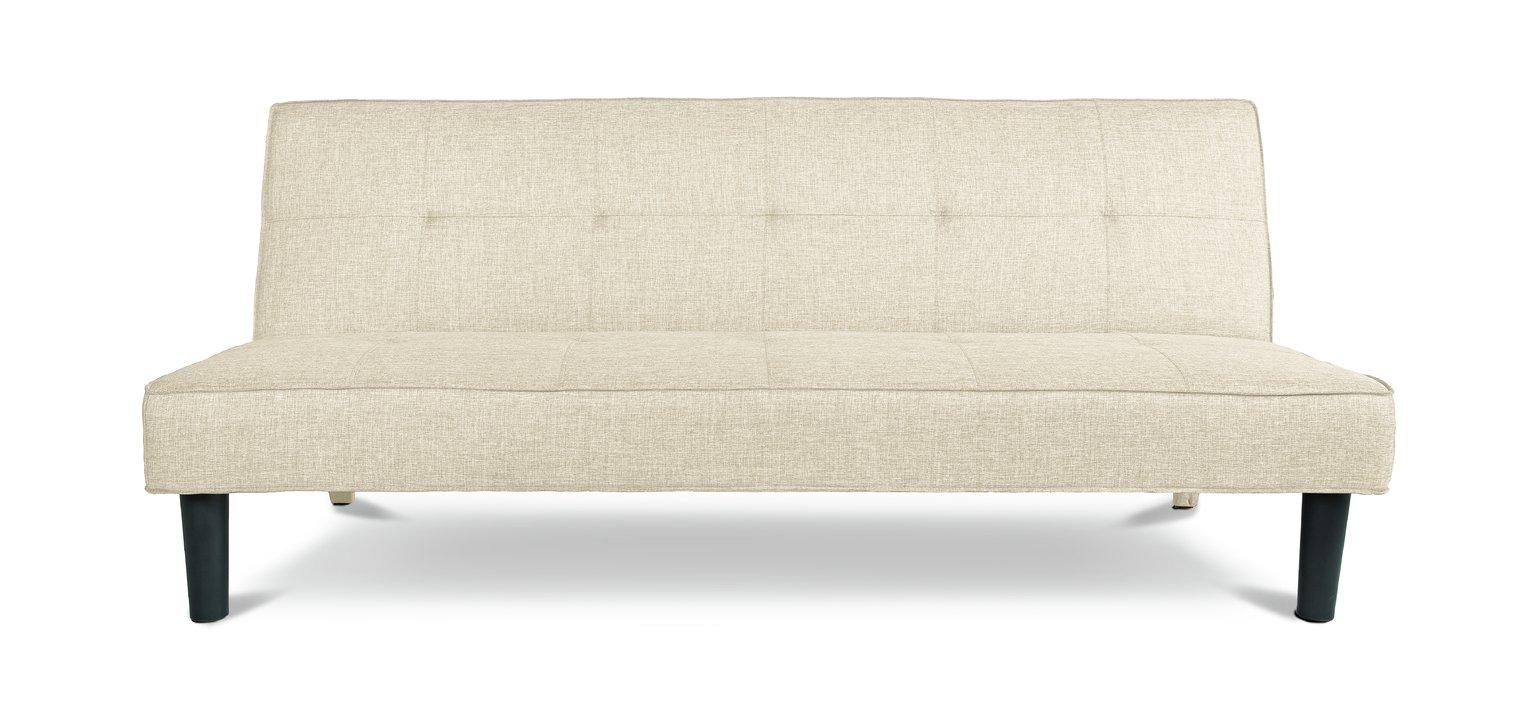 Habitat Patsy 2 Seater Fabric Clic Clac Sofa Bed -Natural