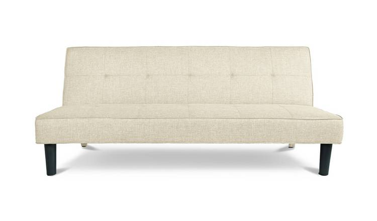 Habitat Patsy 2 Seater Fabric Clic Clac Sofa Bed -Natural