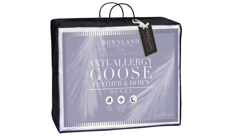 Downland 10.5 Tog Goose, Feather and Down Duvet - Single.