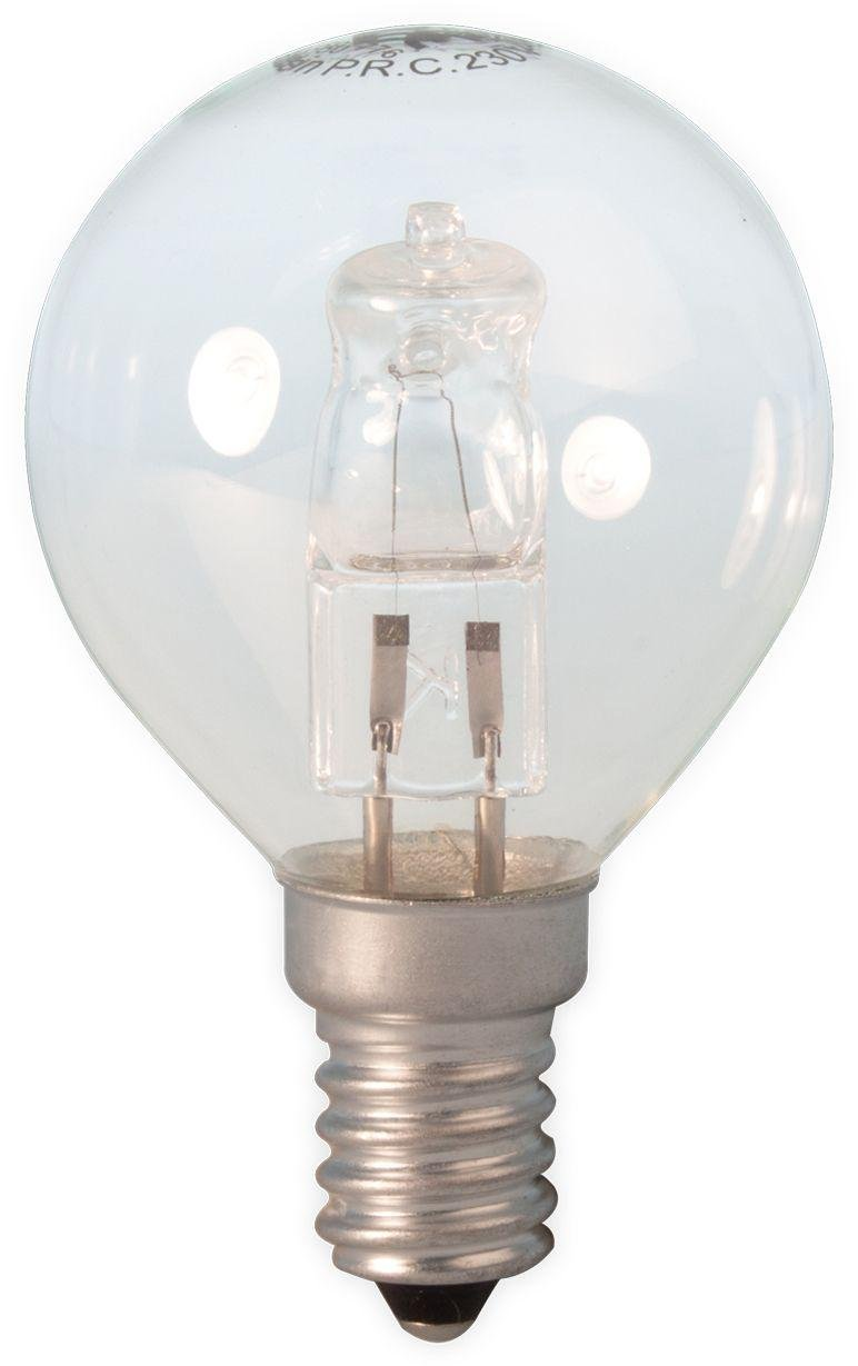 Image of Calex Halogen Golf Ball 42W E14 Clear Glass Dimmable Bulb.