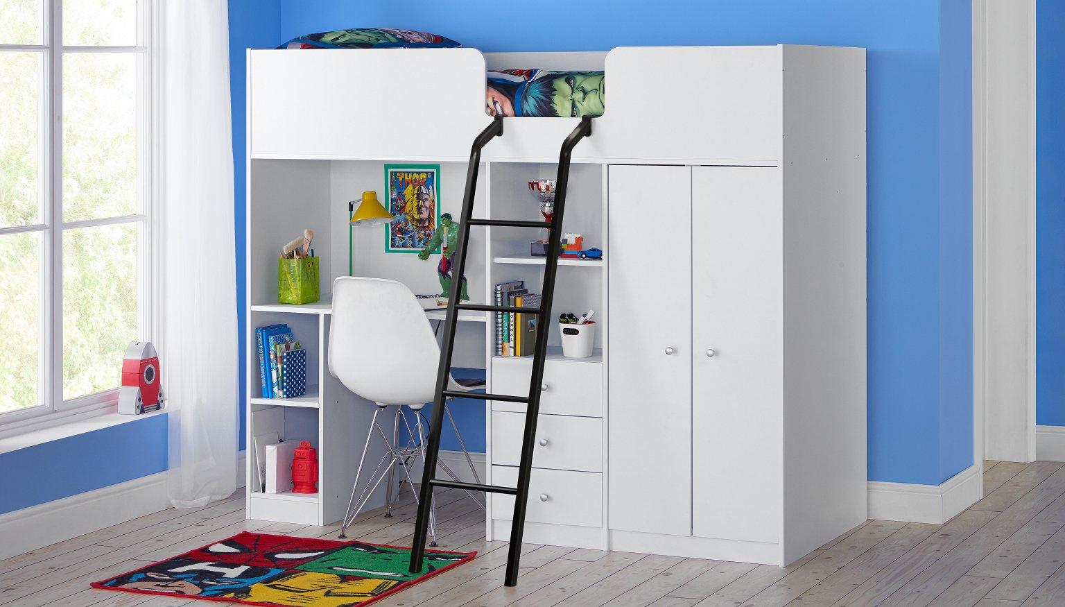 Sale On Ohio Shorty High Sleeper Bed Frame White Argos