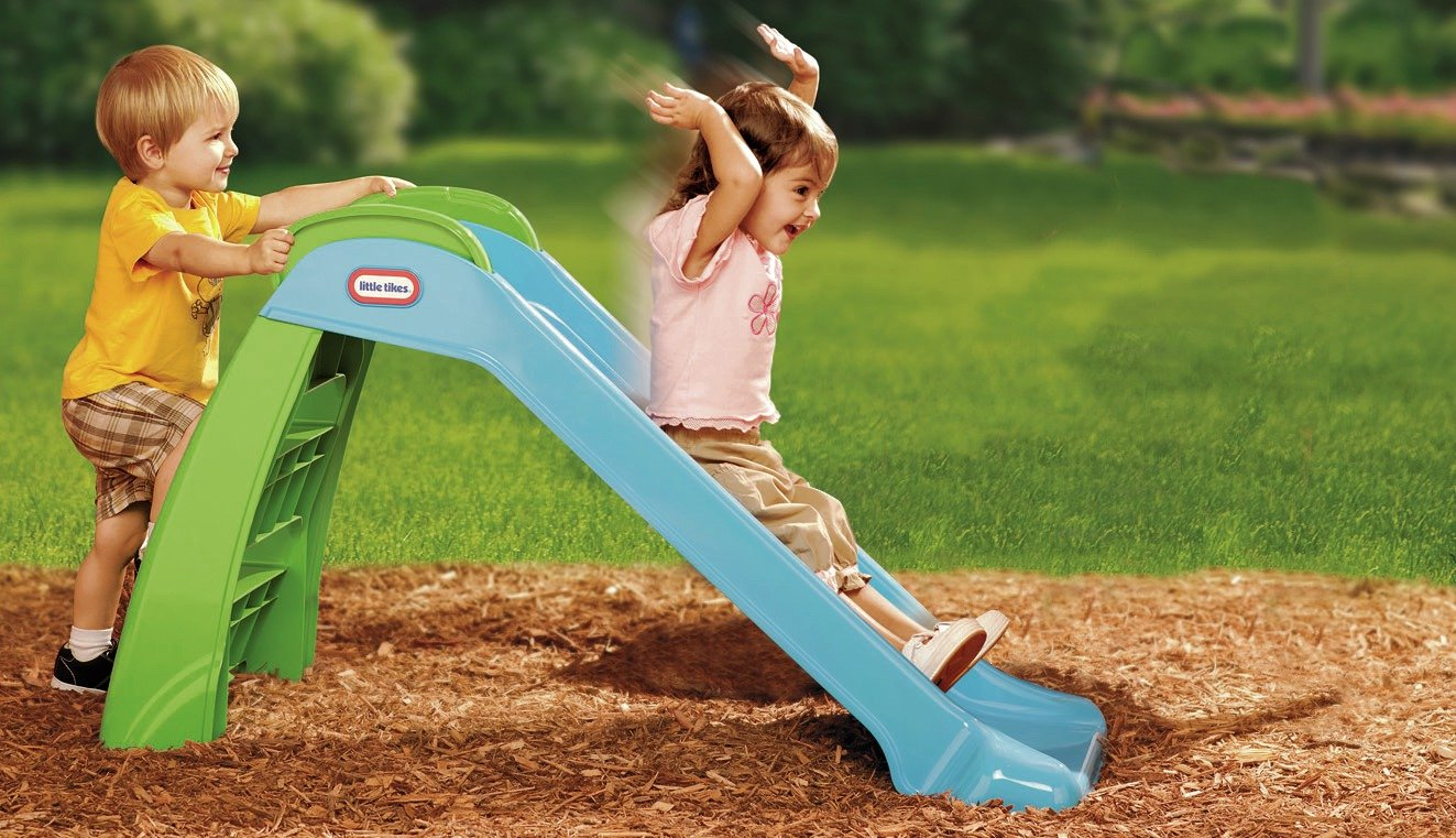 Buy Little Tikes My First Slide Blue Green Slides Argos