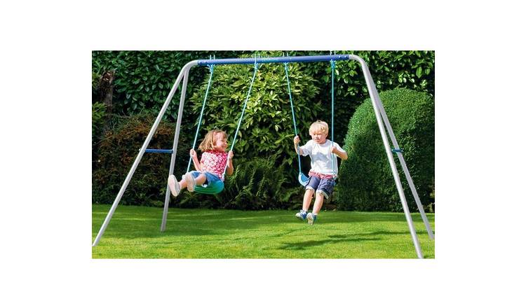 Chad Valley Kids Garden Double Swing Set - Blue