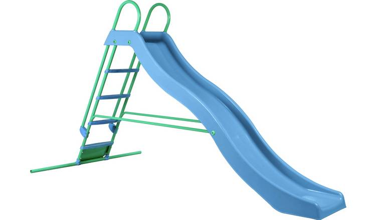 Chad Valley 9ft Kids Wavy Garden Slide - Blue