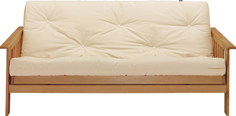 cream futon