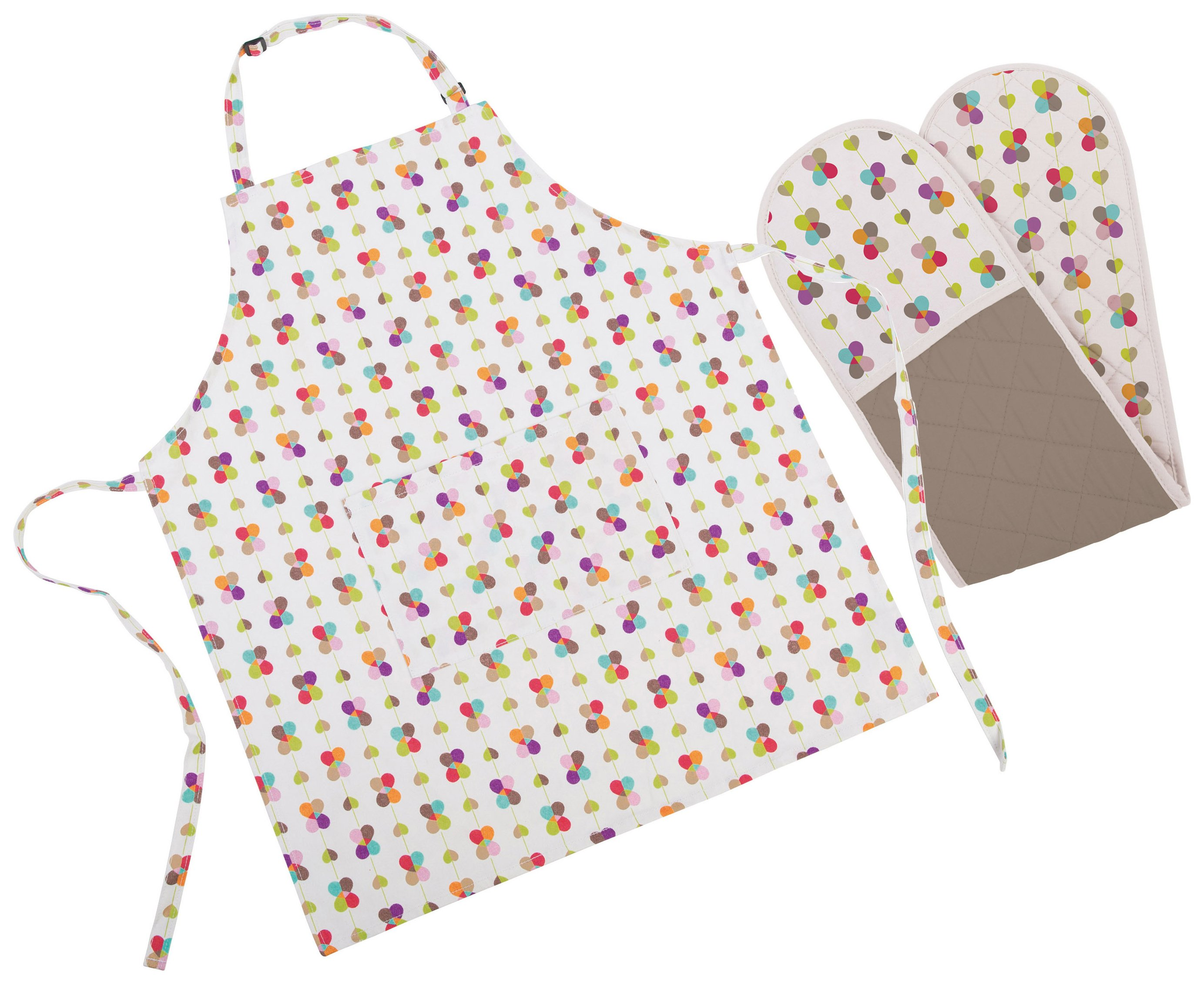 Image of Beau and Elliot - Blooming Lovely Apron and Oven Glove Set