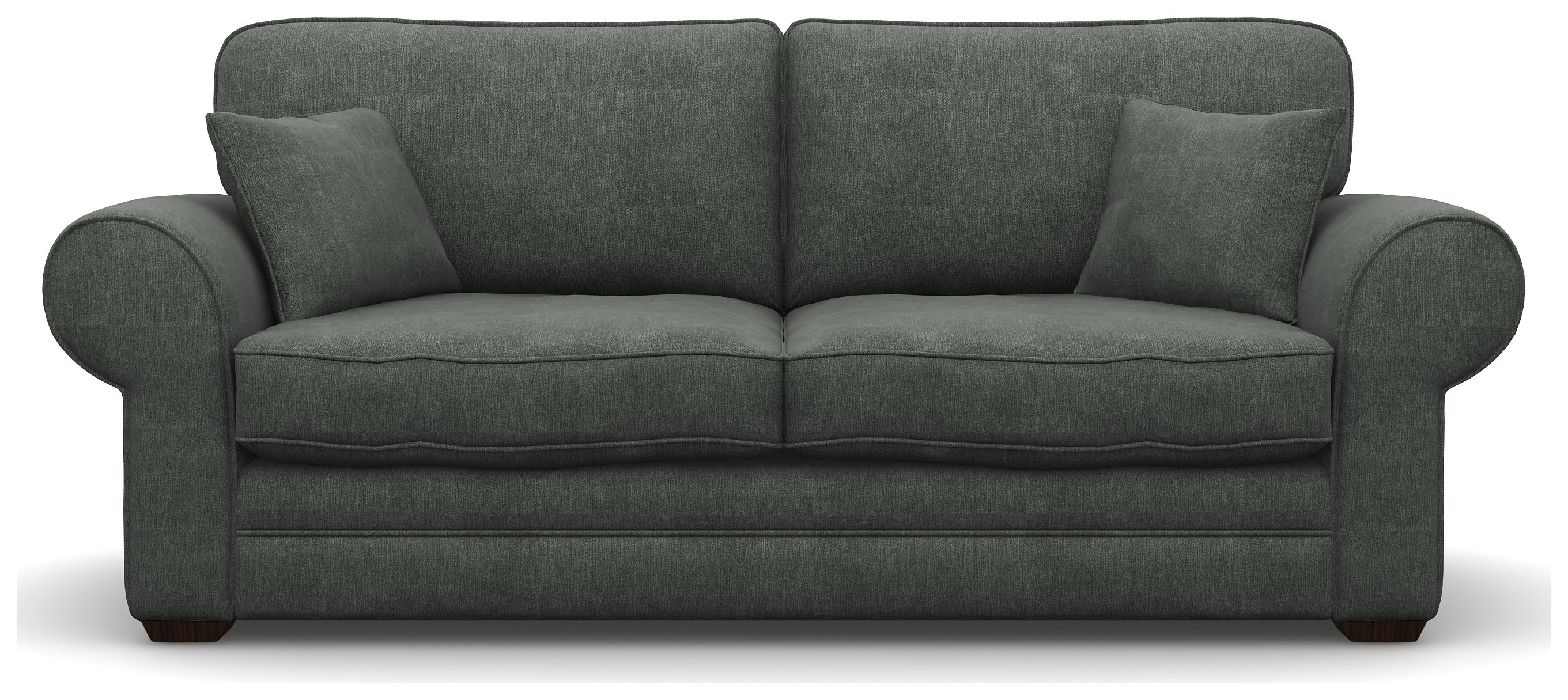 Heart of House Chedworth 3 Seater Fabric Sofa - Smooth Charcoal