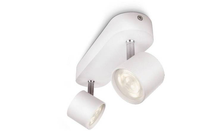 Philips myLiving Adjustable 2 Ceiling Spot Lights - White.