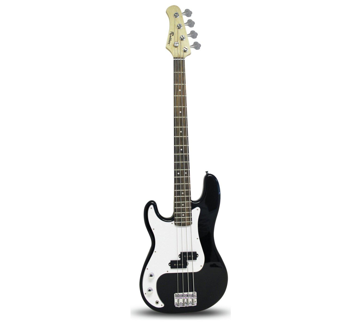 Rockburn Left Hand Bass Guitar - Black
