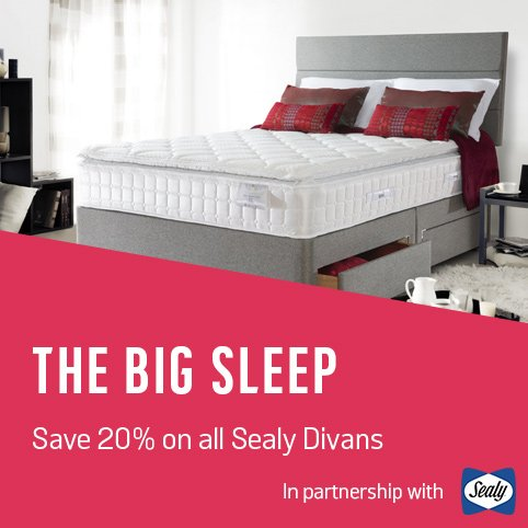 The Big Sleep. Save 20% on all Sealy Divans.