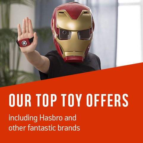 Our top toy offers. Including Hasbro and other fantastic brands.