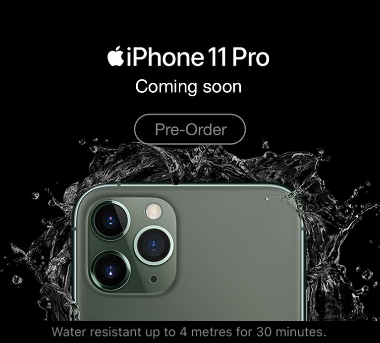 New iPhone 11 Pro. Pre-order now.