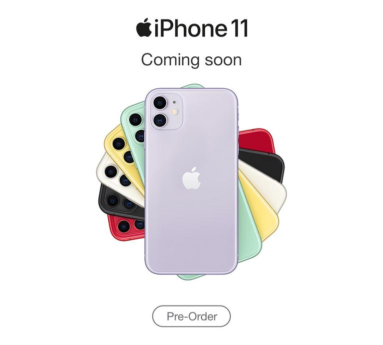 New iPhone 11. Pre-order now.