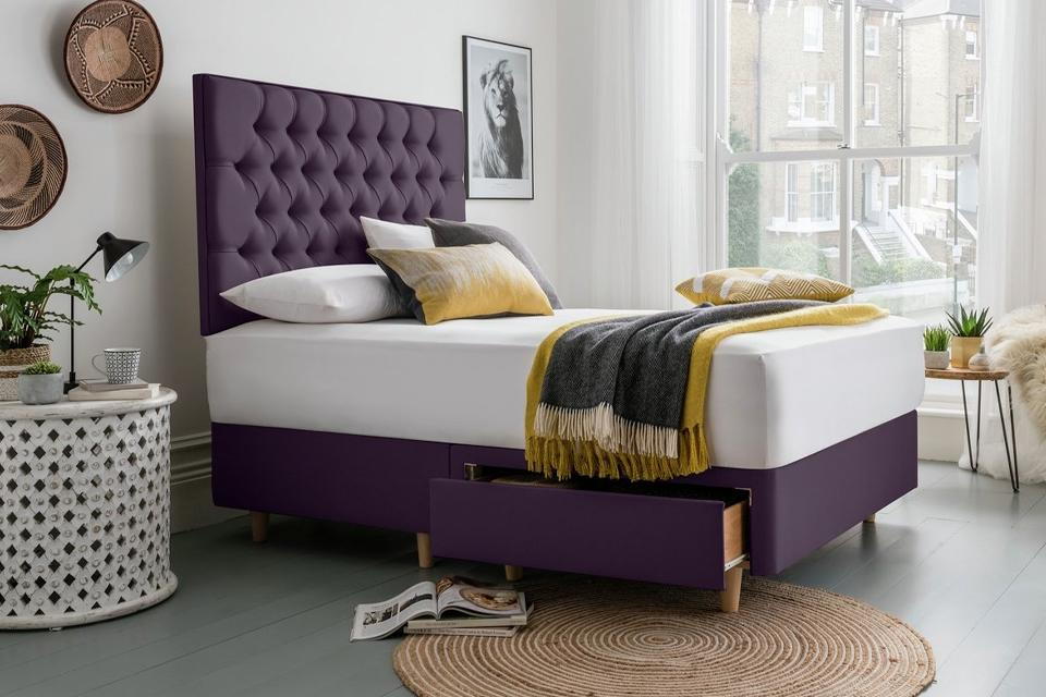 1. Style it up with a high headboard
