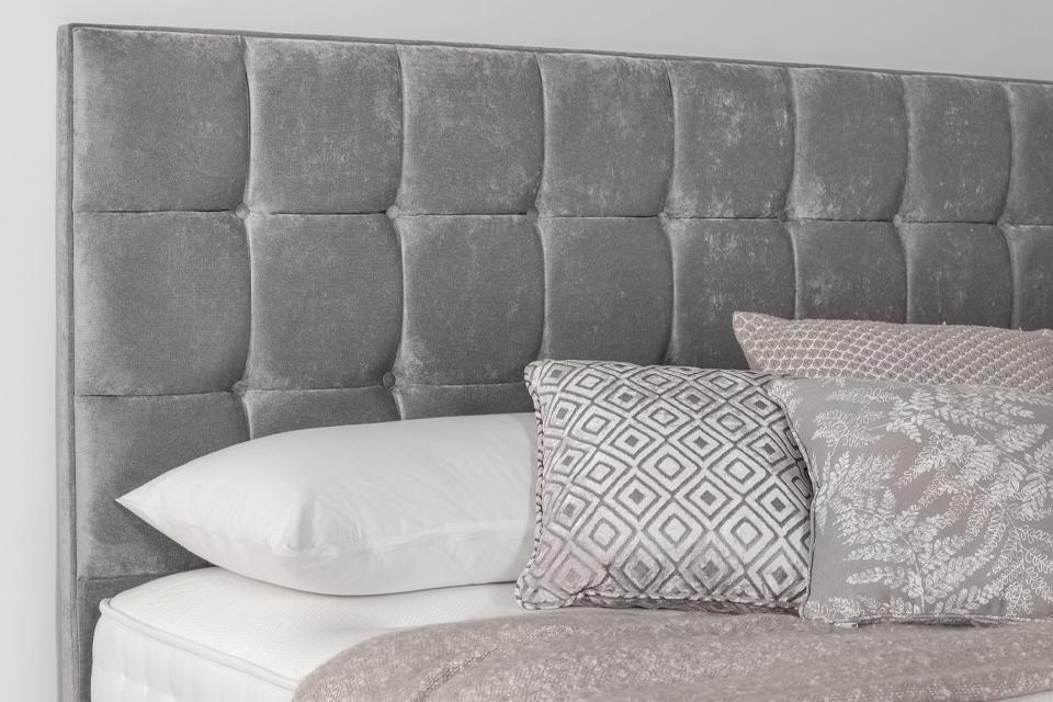4. Add a luxury headboard for a designer look