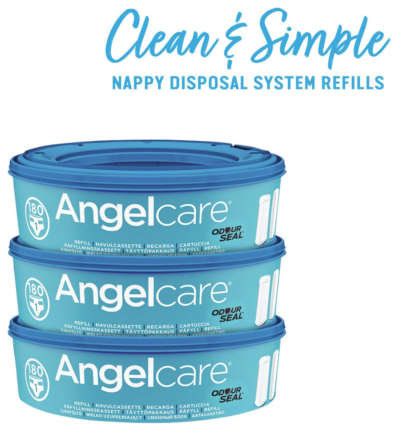 Cheapest price of Angelcare Refill Cassettes 3 pack in new is £14.99