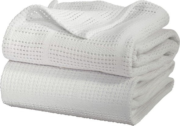 Image of Cellular - Flat - Cot - Bed Baby - Blanket - 2 Pack