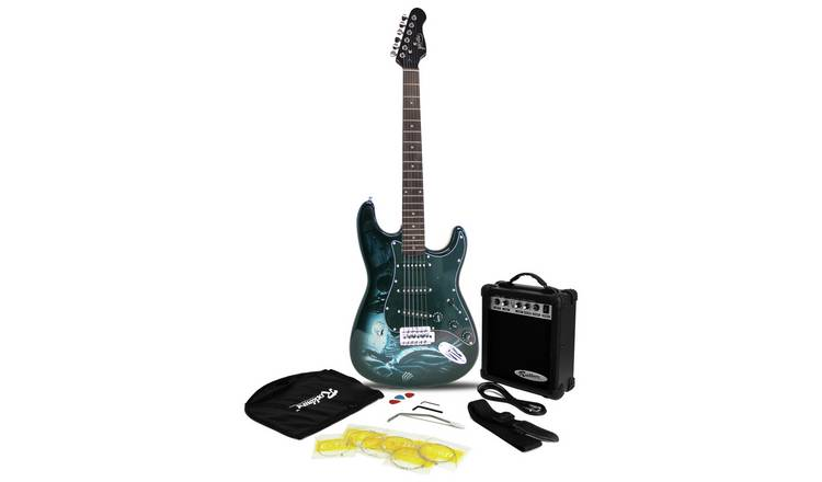 Jaxville Full Size Electric Guitar & Accessories - Hades