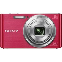 Sony - Cybershot W830 20MP 8x - Zoom - Compact - Digital Camera-Pink