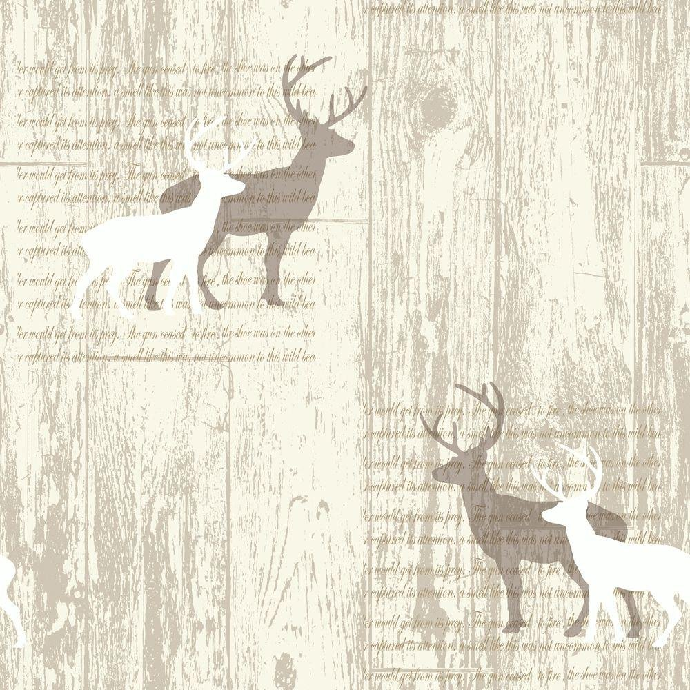 arthouse stag wallpaper  cream.