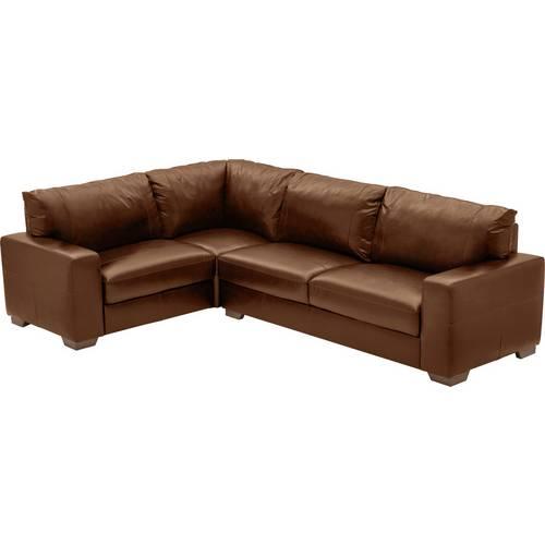 Buy Argos Home Eton Left Corner Leather Sofa - Tan | Sofas | Argos