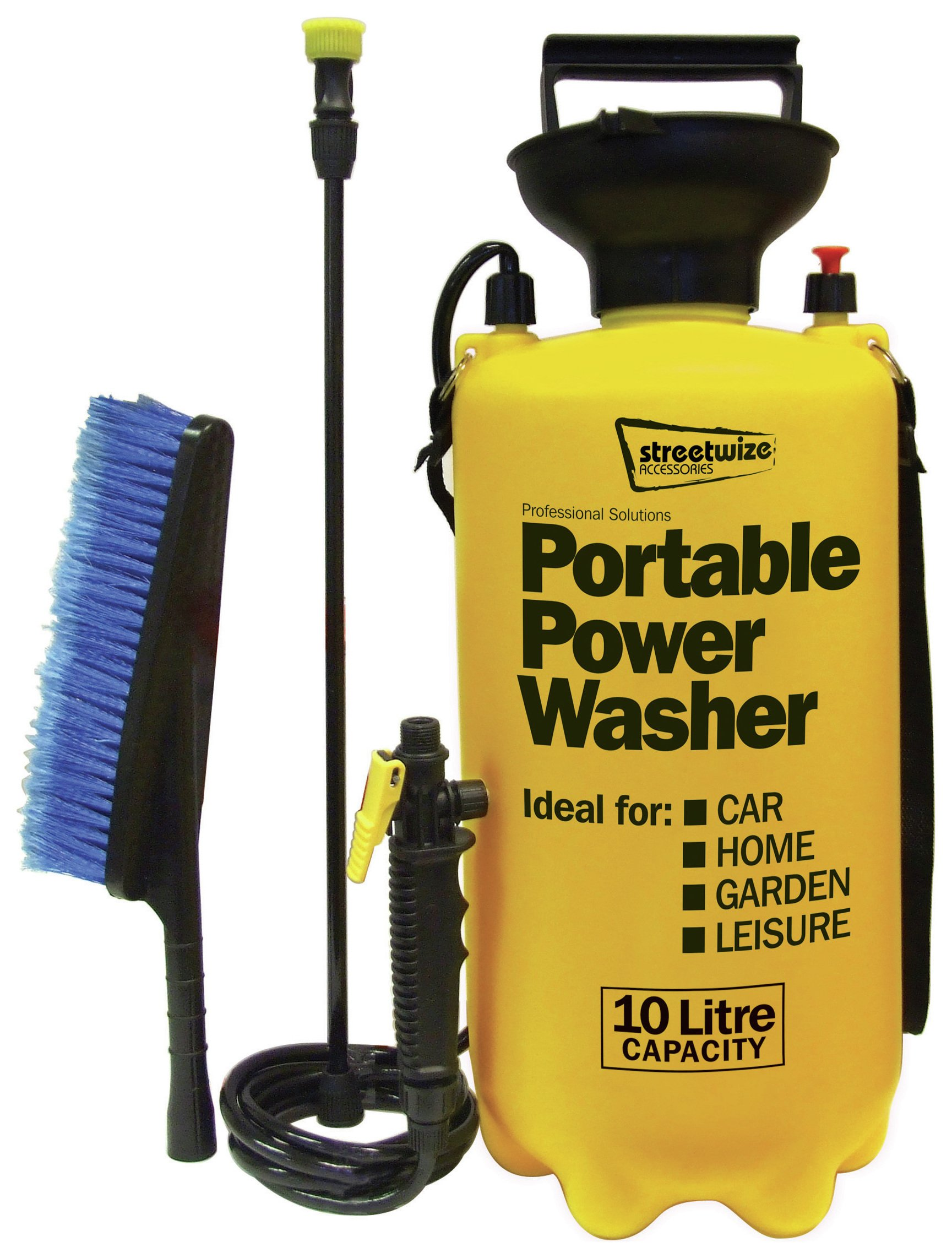 sale on streetwize 10 litre portable power washer. Black Bedroom Furniture Sets. Home Design Ideas