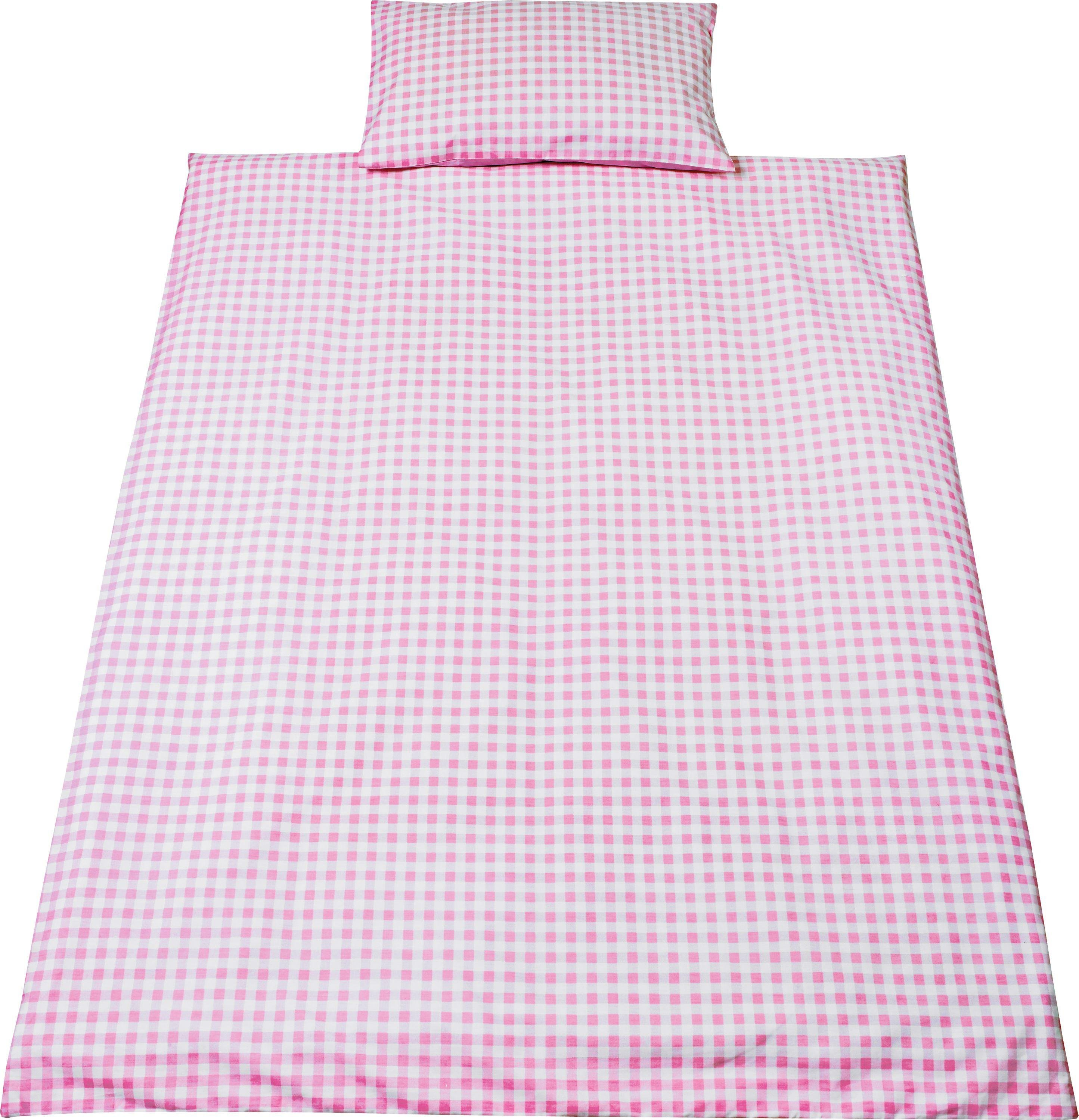 Sale On Saplings Pink Gingham Cot Bed Duvet Cover