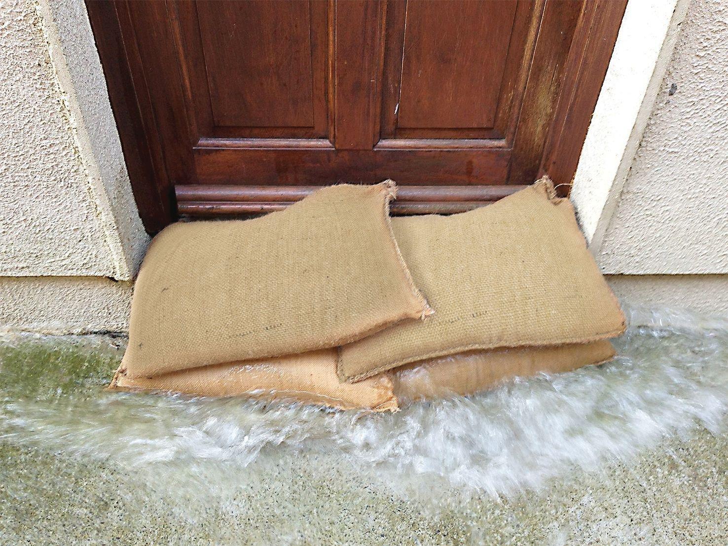 Image of AP Flood Alert Hessian Expanding Flood Bag - 10 Pack.