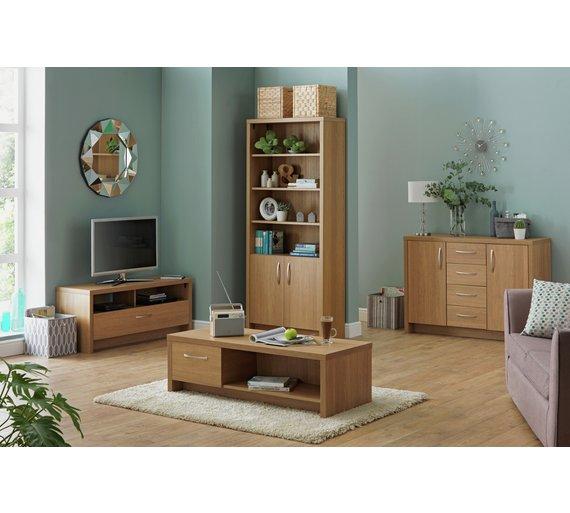 Buy Argos Home Venice 3 Shelf Display Cabinet Oak Effect