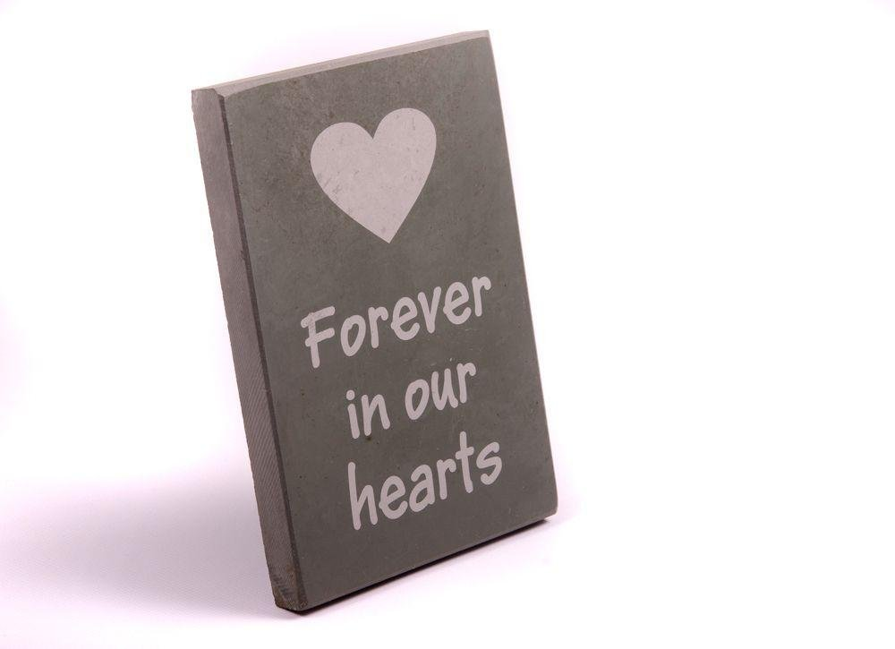 Slate - Garden Memorial - Forever in our Hearts lowest price