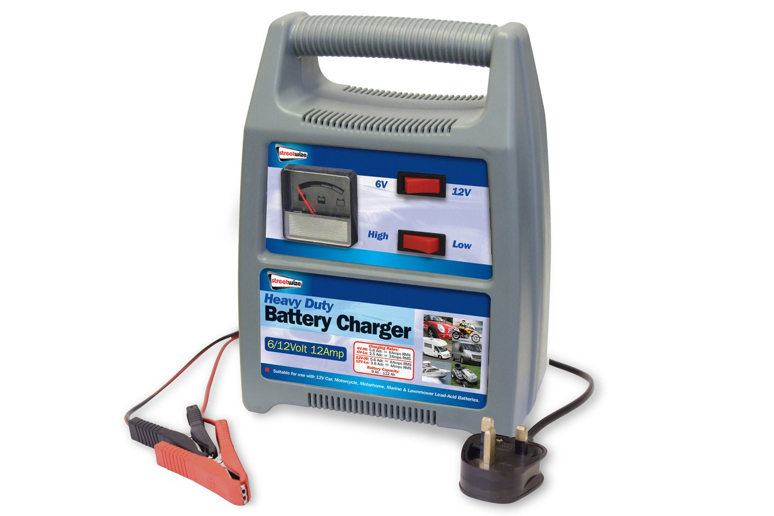 Streetwize 12amp 12V Automatic Battery Charger