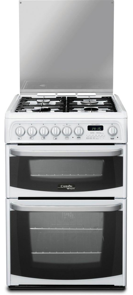 Hotpoint CH60DHWFS Dual Fuel Cooker - White