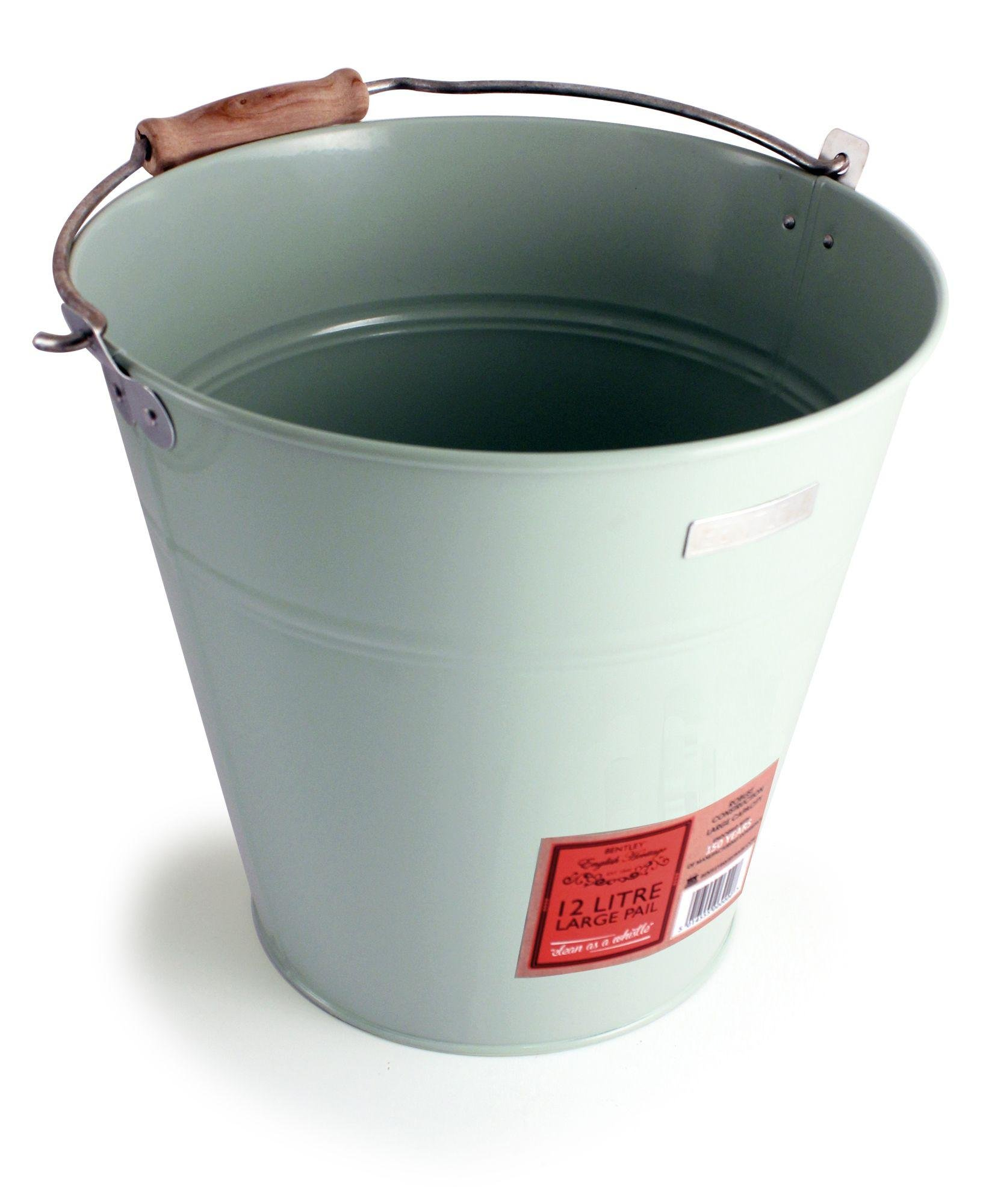 Image of Heritage Painted Metal Pail Bucket.