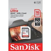 SanDisk - Ultra 80MBs SD - Memory Card - 16GB