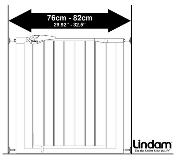 lindam easy fit plus deluxe safety gate bottom of stairs. Black Bedroom Furniture Sets. Home Design Ideas