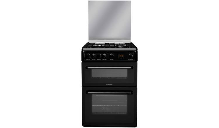 Hotpoint HAGL60K 60cm Double Oven Gas Cooker - Black
