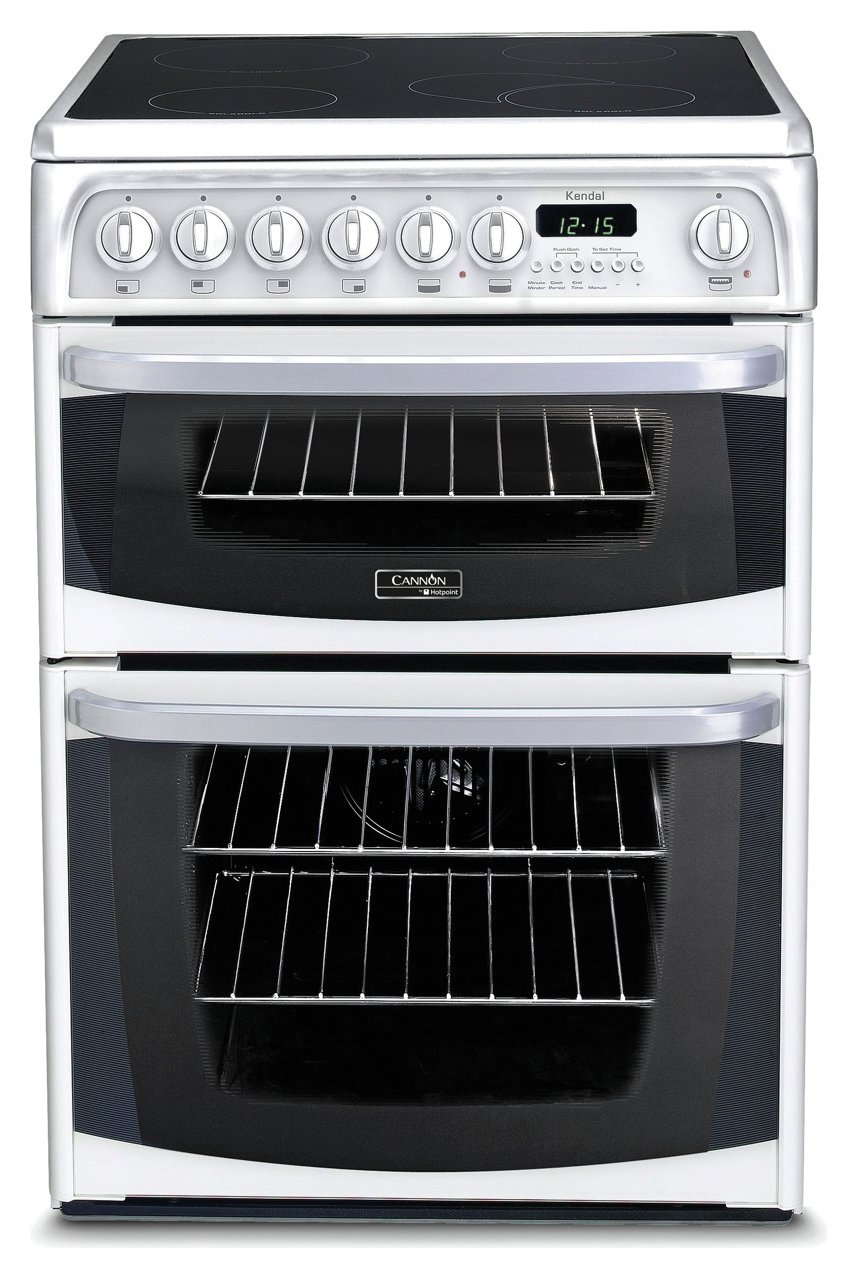 Hotpoint CH60EKWS 60cm Double Oven Electric Cooker - White Best Price, Cheapest Prices