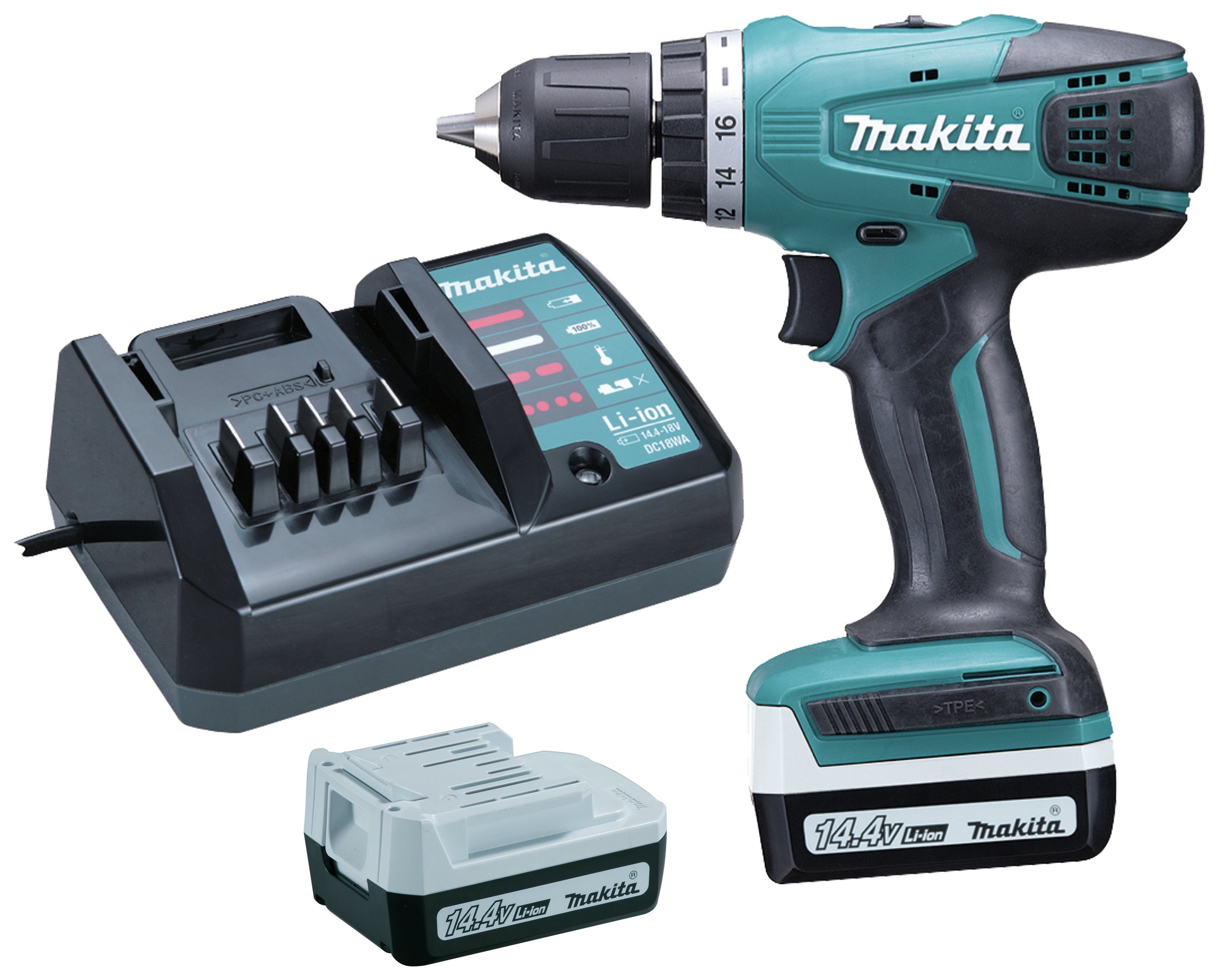 makita battery. makita li-on cordless drill driver with 2 batteries - 14.4v battery