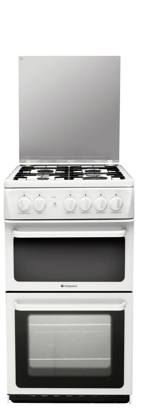 Hotpoint HAGL51P Twin Gas Cooker - White