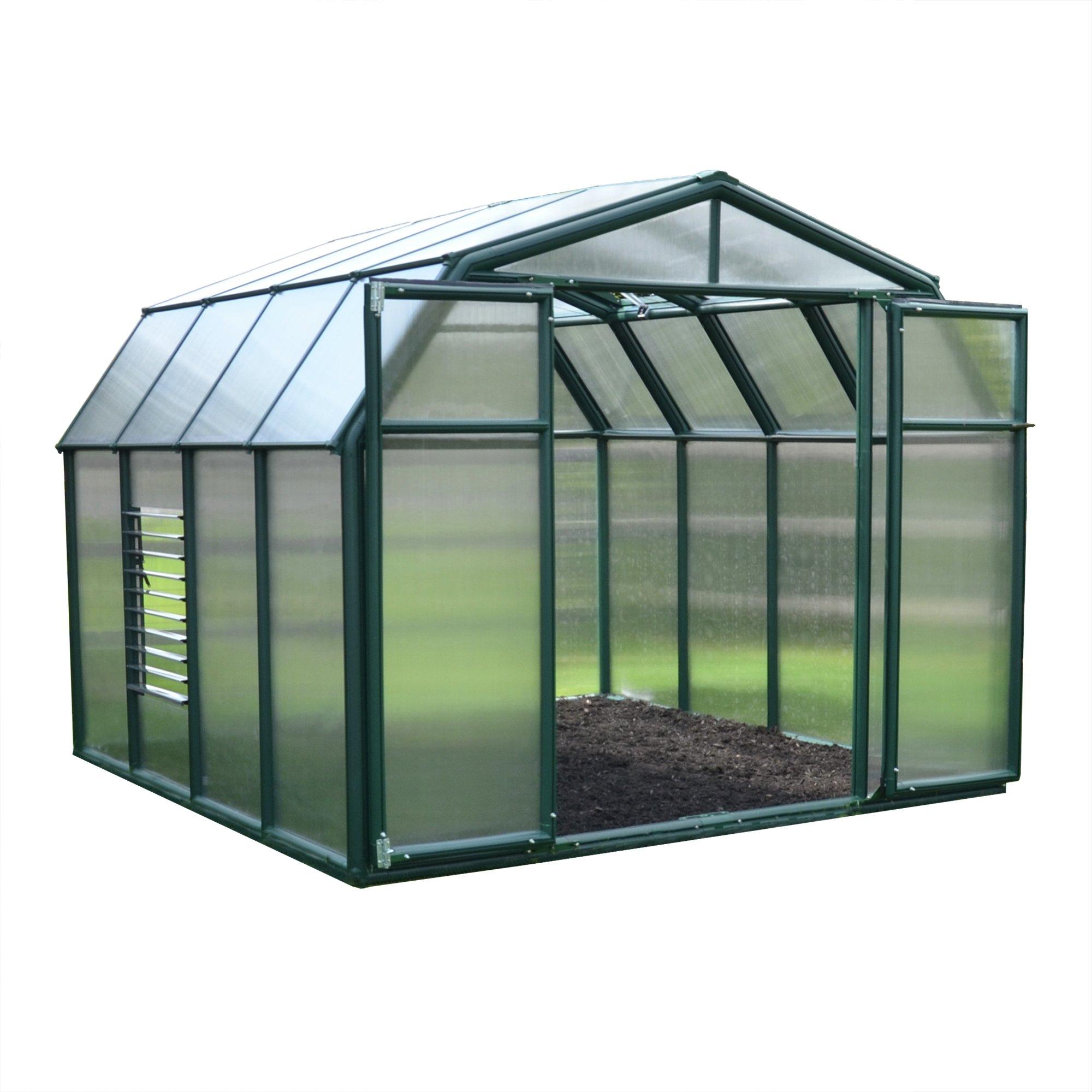 Palram Rion Hobby Gardener Green Greenhouse - 8 x 8ft.