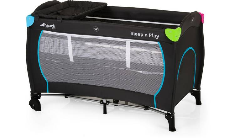 brand new 73444 1d5c6 Buy Hauck Sleep'n Play Center Travel Cot - Black and Multicolour   Travel  cots   Argos