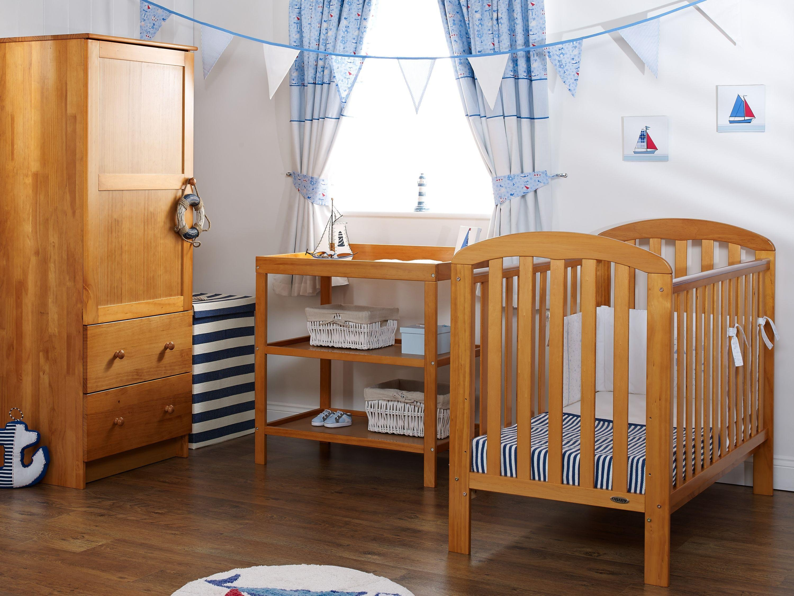 obaby lily 3 piece nursery furniture set  country pine.