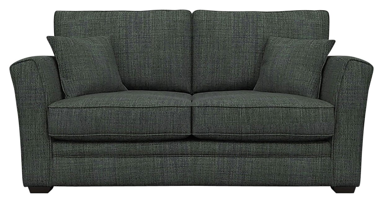 Heart of House Malton 2 Seater Fabric Sofa Bed - Charcoal.