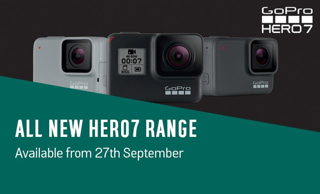 All new HERO7 range. Available from 27th September.